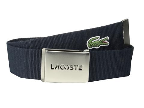 Accesorii Barbati Lacoste SPW L1212 Textile Croc Belt Navy