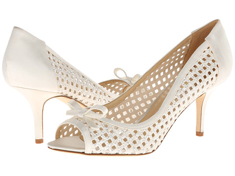 Incaltaminte Femei Kate Spade New York Susana White Glitter Grid FabricIvory Satin