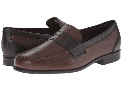 Incaltaminte Barbati Rockport Classic Loafer Lite Penny New BrownDark Bitter Chocolate