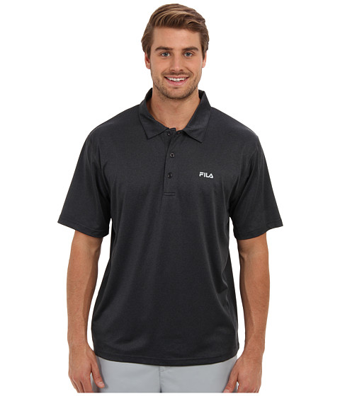 Imbracaminte Barbati Fila Performance Heather Polo Black Heather