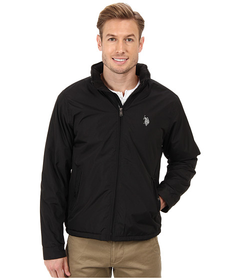 Imbracaminte Barbati US Polo Assn Fleece Lined PU Piped Jacket Black