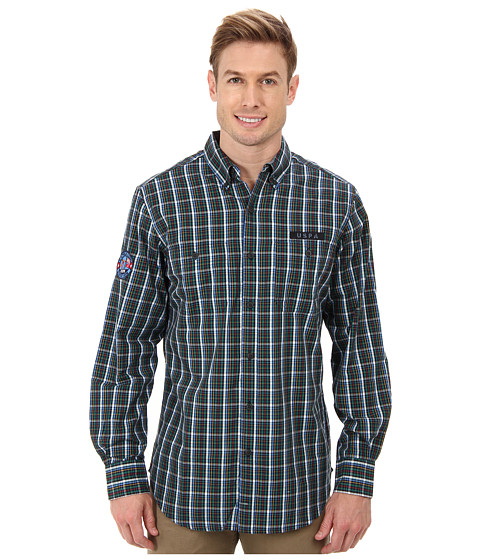 Imbracaminte Barbati US Polo Assn Long Sleeve Plaid Poplin Shirt Classic Navy