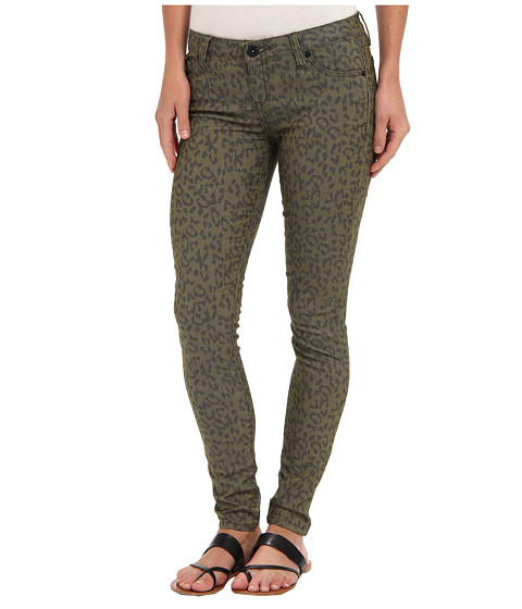 Imbracaminte Femei Hurley 81 Skinny Twill Legging Rough Green Leopard