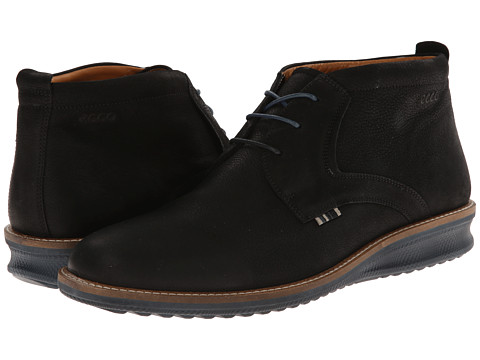 Incaltaminte Barbati ECCO Contoured Low Cut Boot Black Starbuck