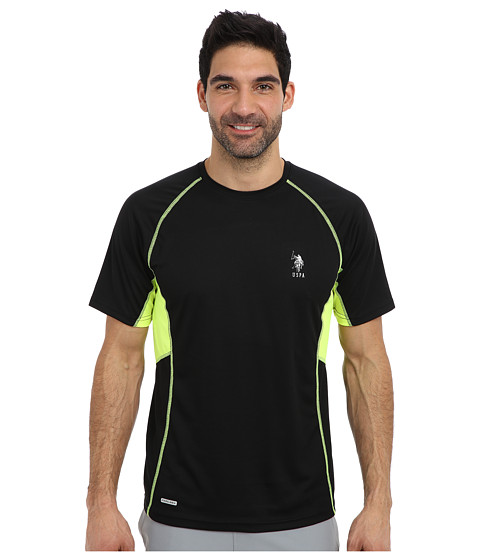 Imbracaminte Barbati US Polo Assn Raglan Performance T-Shirt Black