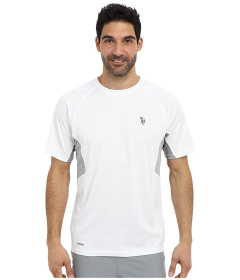 Imbracaminte Barbati US Polo Assn Raglan Performance T-Shirt White