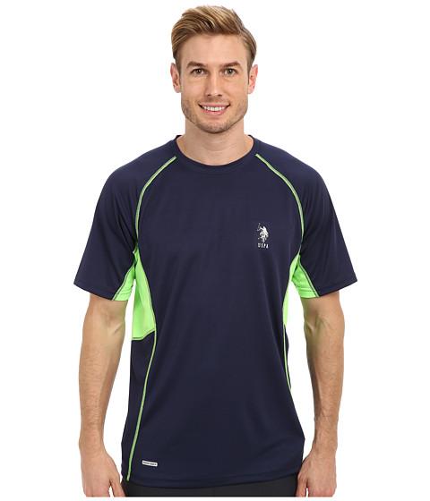 Imbracaminte Barbati US Polo Assn Raglan Performance T-Shirt Classic Navy