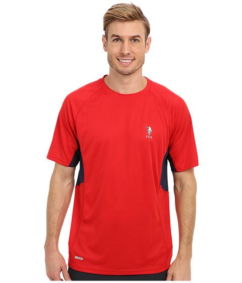 Imbracaminte Barbati US Polo Assn Raglan Performance T-Shirt Engine Red