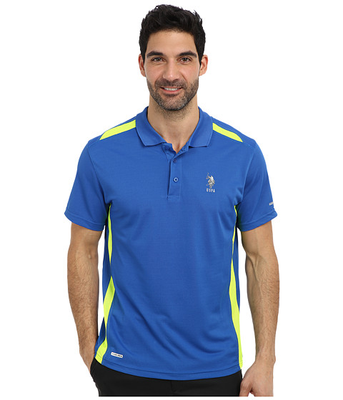 Imbracaminte Barbati US Polo Assn Vented Panel Performance Polo China Blue