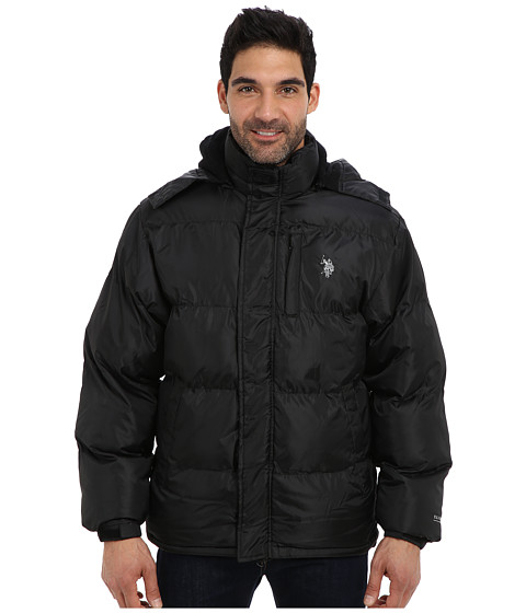 Imbracaminte Barbati US Polo Assn Classic Short Bubble Coat w Small Pony Black