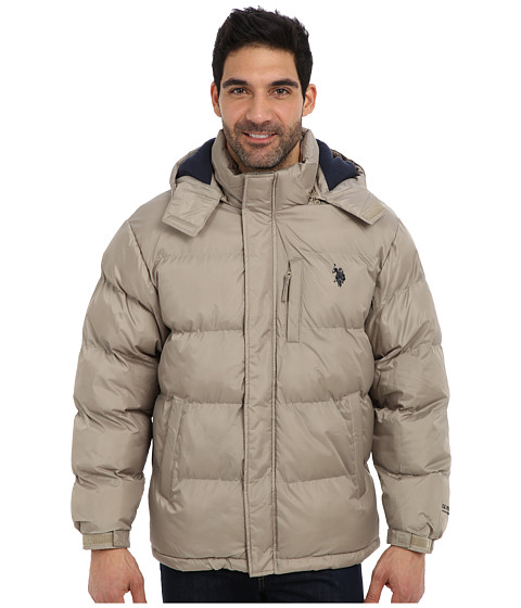 Imbracaminte Barbati US Polo Assn Classic Short Bubble Coat w Small Pony Thomston Khaki
