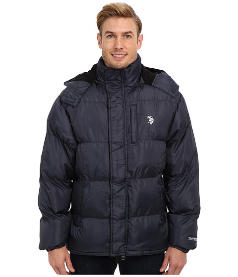 Imbracaminte Barbati US Polo Assn Classic Short Bubble Coat w Small Pony Classic Navy