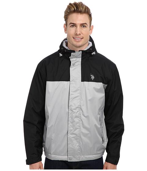 Imbracaminte Barbati US Polo Assn Color Block Coat w Fleece Lining Lime Stone