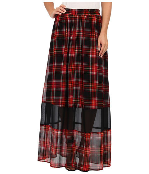 Imbracaminte Femei BCBGeneration Plaid Maxi Skirt VSU3F059 Bright Red Multi