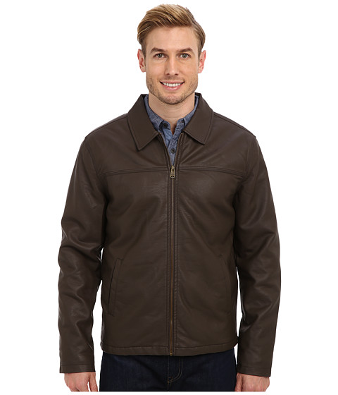 Imbracaminte Barbati US Polo Assn PU Trucker Jacket Dark Brown
