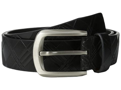 Accesorii Barbati Stacy Adams 38mm Genuine Leather with Crisscross Design Black