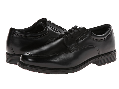 Incaltaminte Barbati Rockport Lead The Pack Apron Toe Black WP Leather