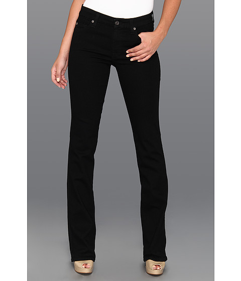 Imbracaminte Femei 7 For All Mankind The Skinny Bootcut w Squiggle Second Skin Slim Illusion Black Elasticity Black