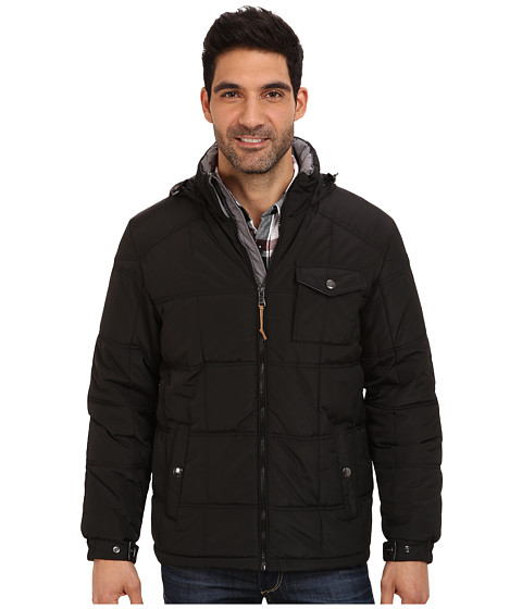 Imbracaminte Barbati IZOD Poly Quilted Puffer Black
