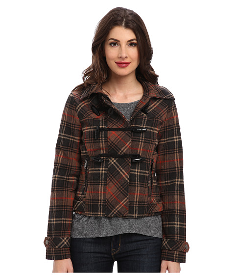 Imbracaminte Femei dollhouse Hooded Zip-Front Bomber w Toggle Closings Avril Plaid