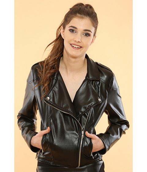 Imbracaminte Femei Be You Geaca biker piele ecologica neagra Multicolor
