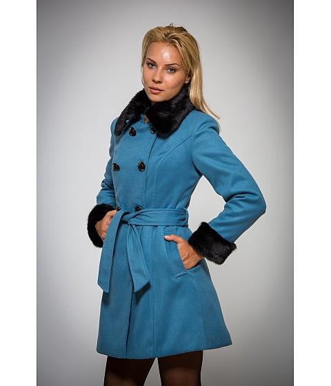 Imbracaminte Femei Be You Palton albastru cu blanita neagra Multicolor