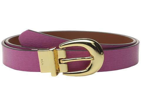 Accesorii Femei LAUREN Ralph Lauren 1quot Saffiano to Smooth Reversible Belt Raspberry RoseLight Tan