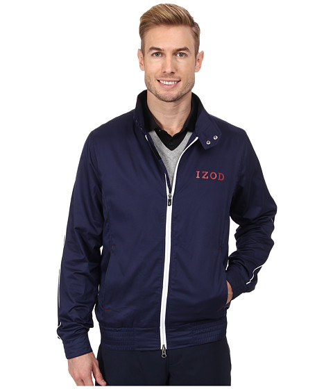 Imbracaminte Barbati IZOD Legends Golf Wind Bomber Jacket Peacoat