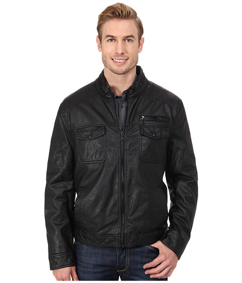 Imbracaminte Barbati Kenneth Cole Reaction Faux Leather Hipster Black