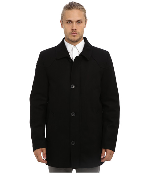 Imbracaminte Barbati Vince Camuto Melton Carcoat With Removable Quiled Nylon Bib amp Knit Collar Black