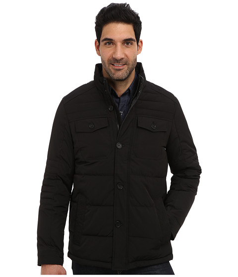 Imbracaminte Barbati Perry Ellis Quilted Four Pocket Jacket EP822679 Black