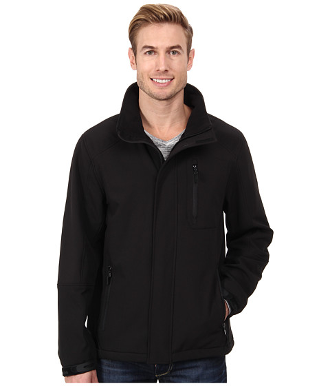 Imbracaminte Barbati Calvin Klein Soft Shell Zip Front Jacket CM403723 Black