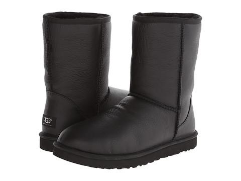Incaltaminte Barbati UGG Classic Short Leather Black LeatherSheepskin