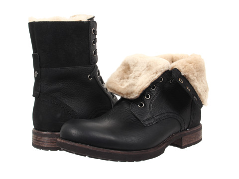 Incaltaminte Barbati UGG Larus Black Leather 1