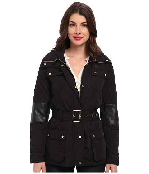 Imbracaminte Femei Calvin Klein Quilted Jacket w Belt Black