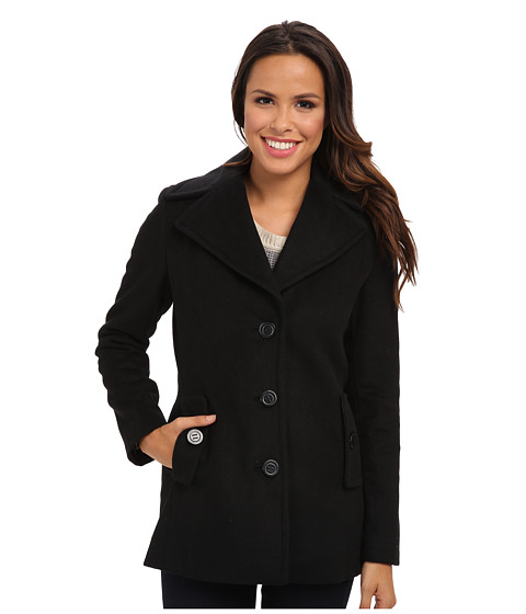 Imbracaminte Femei Calvin Klein Single Breasted Wool Blend Peacoat CW387007 Black