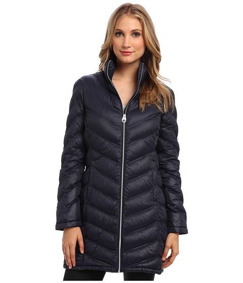 Imbracaminte Femei Calvin Klein Zip Front Long Packable Down Jacket CW312100 Navy