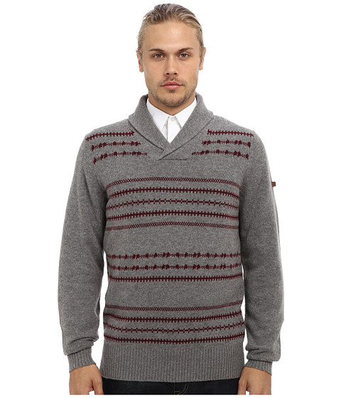 Imbracaminte Barbati Ben Sherman Fairisle Shawl Collar Sweater ME10742 Silver Chalise