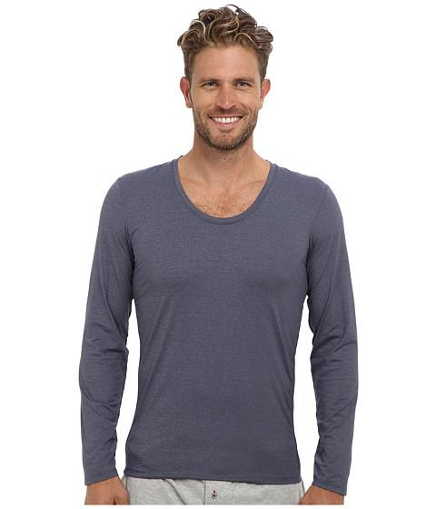 Imbracaminte Barbati Calvin Klein ck Ease LS Curve Neck M9681 Blue Shadow