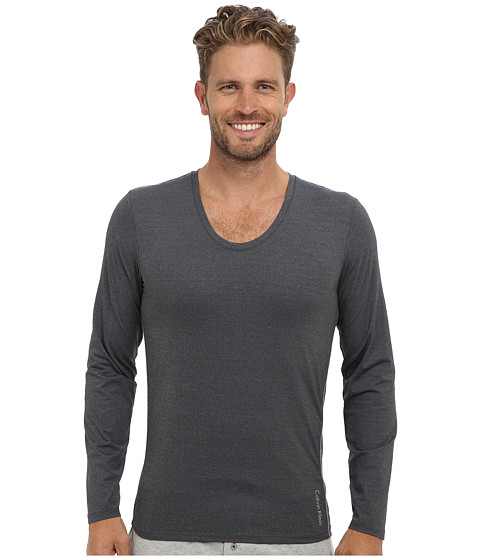 Imbracaminte Barbati Calvin Klein ck Ease LS Curve Neck M9681 Charcoal Heather