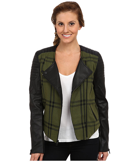 Imbracaminte Femei Hurley Moto Novelty Jacket Deepest Green Plaid