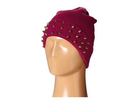 Accesorii Femei Steve Madden Spiked Cuff Hat Burgandy