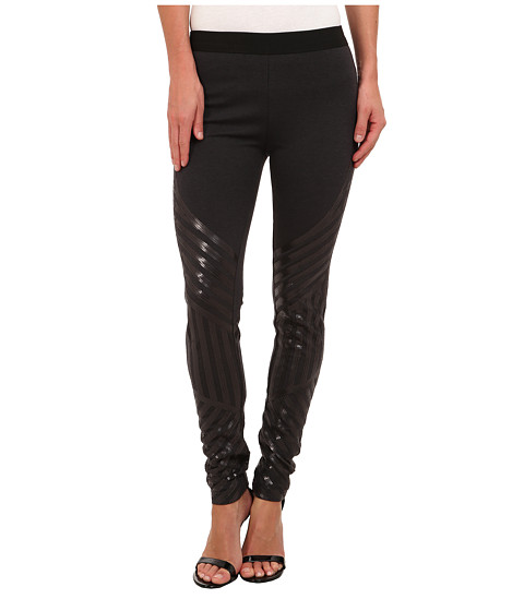 Imbracaminte Femei BCBGMAXAZRIA Lacie Sequin Legging Dark Charcoal Heather Grey