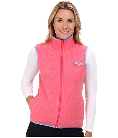 Imbracaminte Femei Columbia Harborsidetrade Fleece Vest Tango Pink HeatherWhite Cap