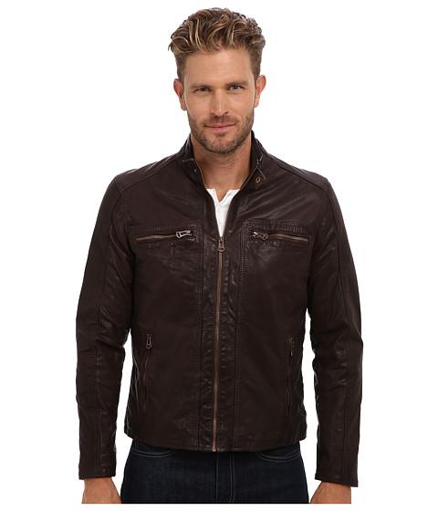 Imbracaminte Barbati Cole Haan Waxed Leather Moto Java