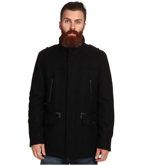 Imbracaminte Barbati Cole Haan Wool Melton Carcoat Black