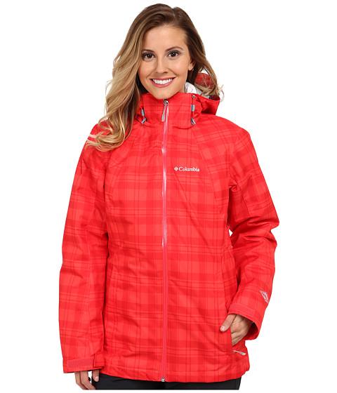Imbracaminte Femei Columbia Whirlibirdtrade Interchange Jacket Red Hibiscus Plaid PrintWhite