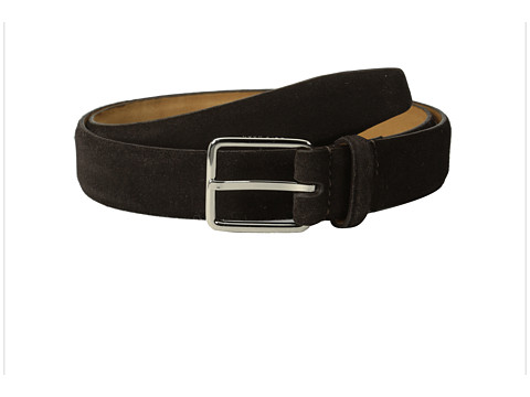 Accesorii Barbati Cole Haan 30mm Suede Feather Edge Strap w Harness Buckle Chocolate