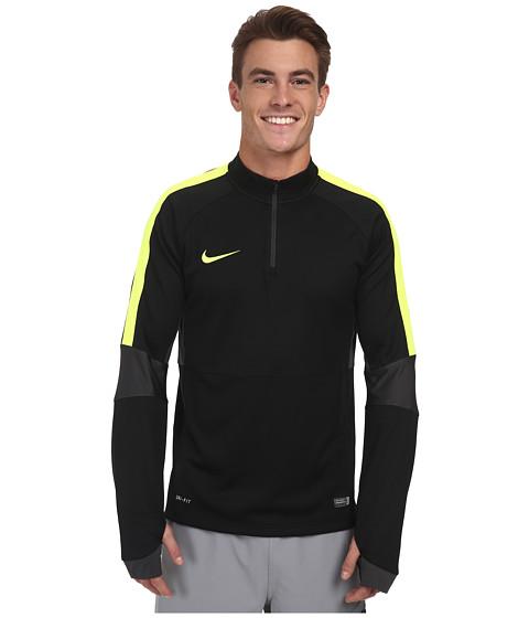 Imbracaminte Barbati Nike Squad Ignite LS Midlayer Top BlackAnthraciteVoltVolt