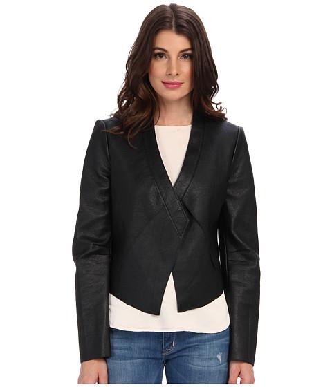 Imbracaminte Femei BCBGMAXAZRIA Lloyd Bonded Pleather Jacket Black